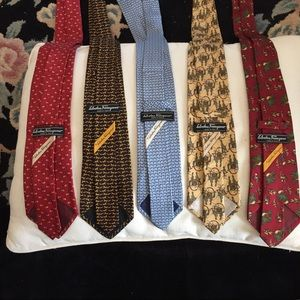 5 Salvatore Ferragamo Ties/snail, fox, horse, etc/